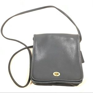 Coach Navy Blue Compact Messenger Bag 9620 USA